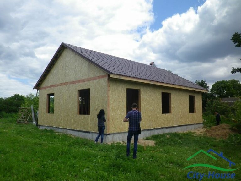 Каркасный дом из СИП панелей в Винницкой области
