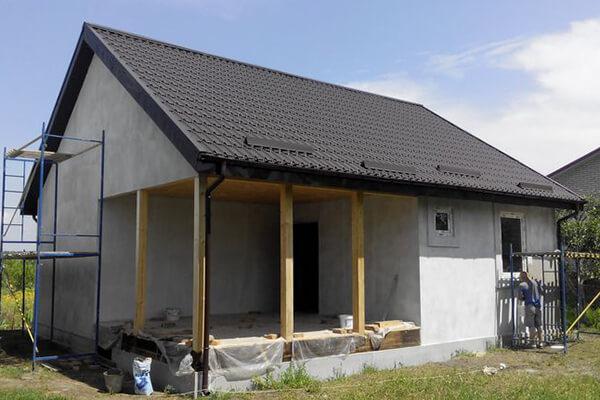 Быстровозводимый одноэтажный дачный дом в Виннице