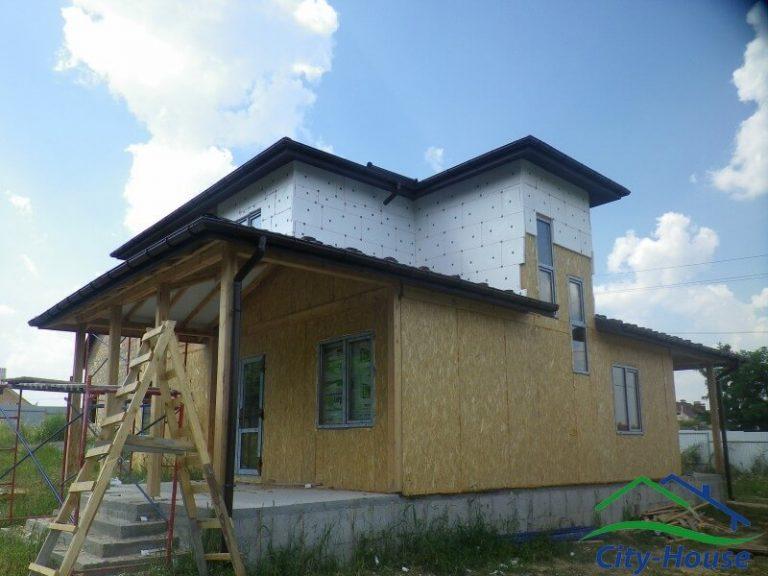 Каркасный дом из СИП панелей в Виннице
