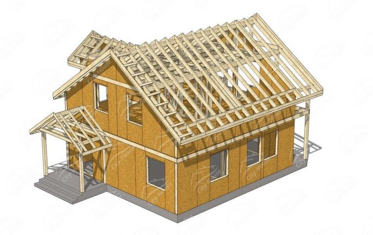 Рабочий КД проект раскроя/сборки дома из СИП панелей