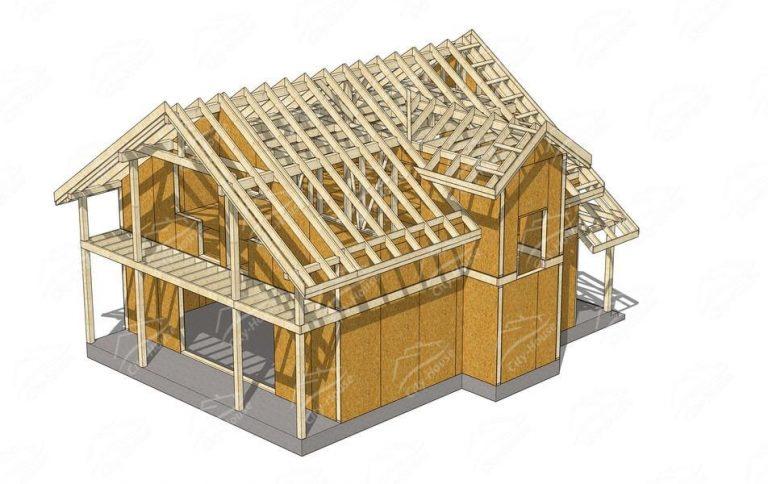 Рабочий проект раскроя/сборки дома из СИП панелей