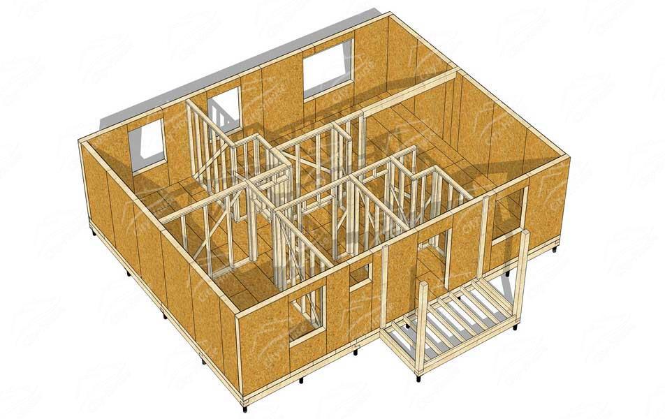 Каркасный дом из СИП панелей своими руками