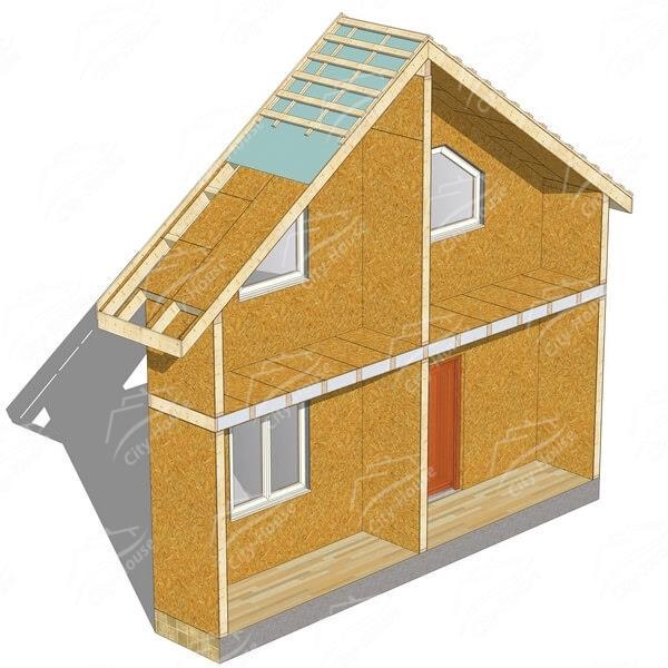 Каркасно-панельный дом под отделку