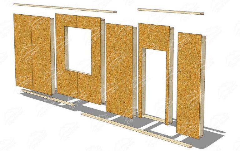 Каркасные модули стен