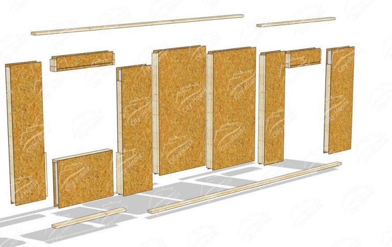 Модули стен из СИП панелей для самостоятельного строительства