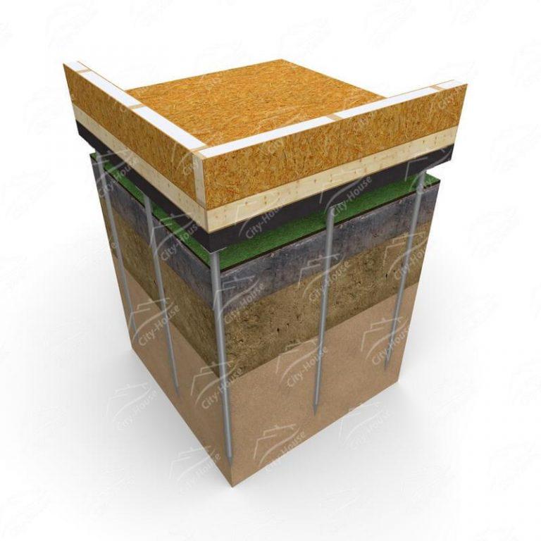 Свайно-винтовой фундамент для каркасных домов из СИП панелей