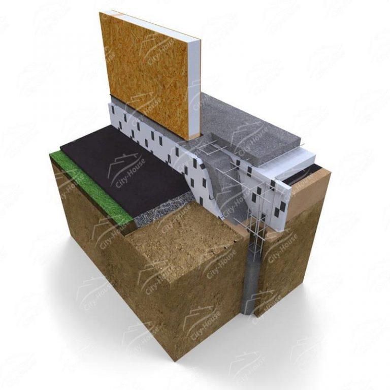 Ленточно-столбчатый фундамент для каркасных домов из СИП панелей
