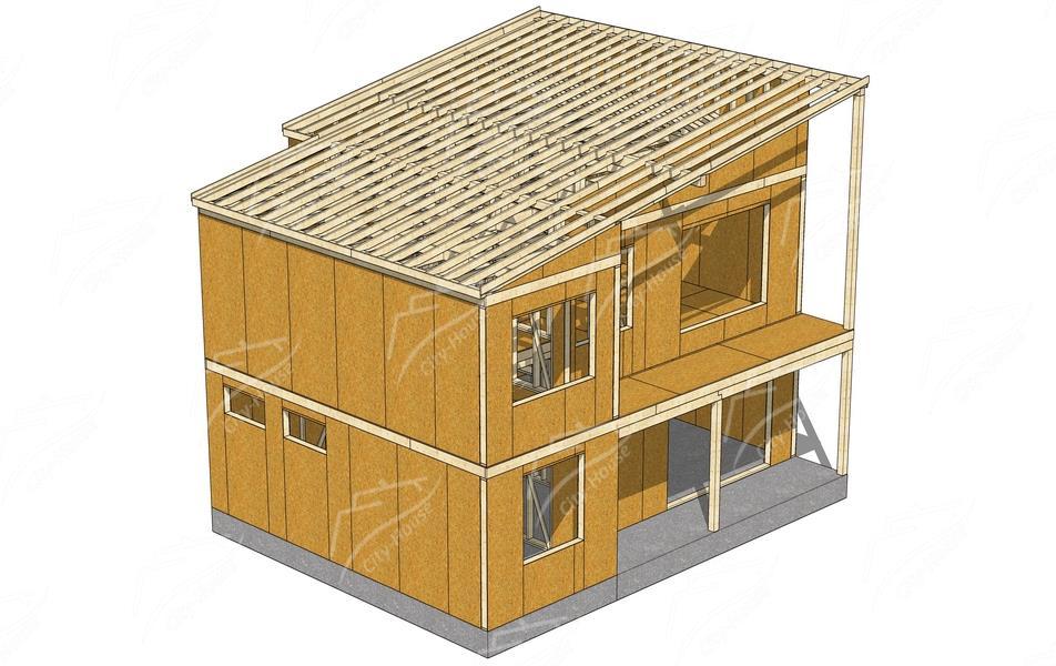 Производство и строительство каркасных домов под ключ по
