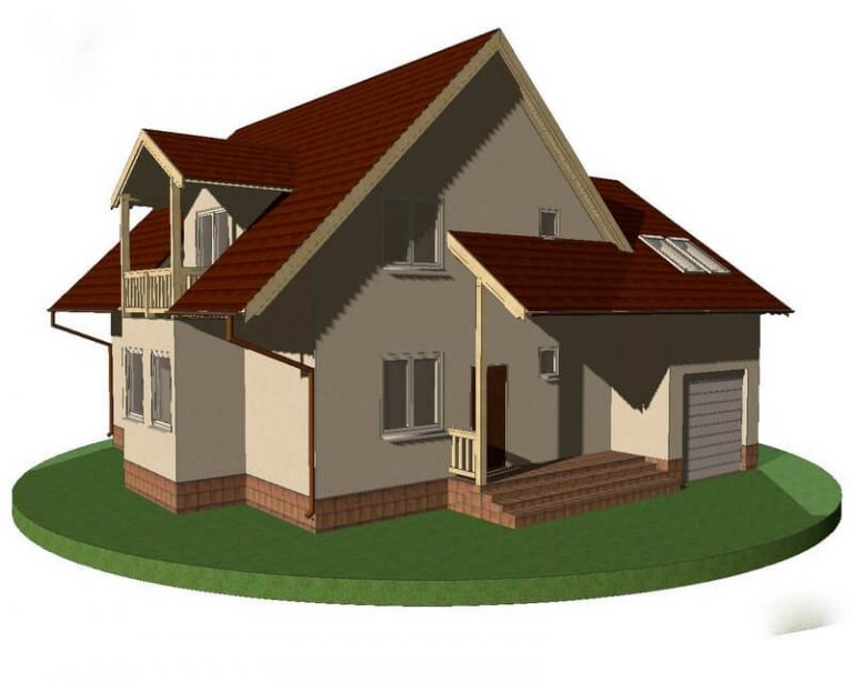 Проект каркасного дома из СИП панелей C1515 Тернополь