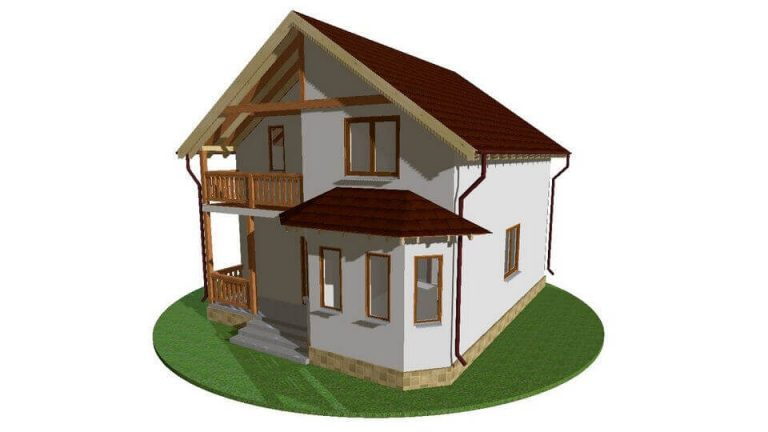 Проект каркасного дома из СИП панелей C1505 Хмельницький