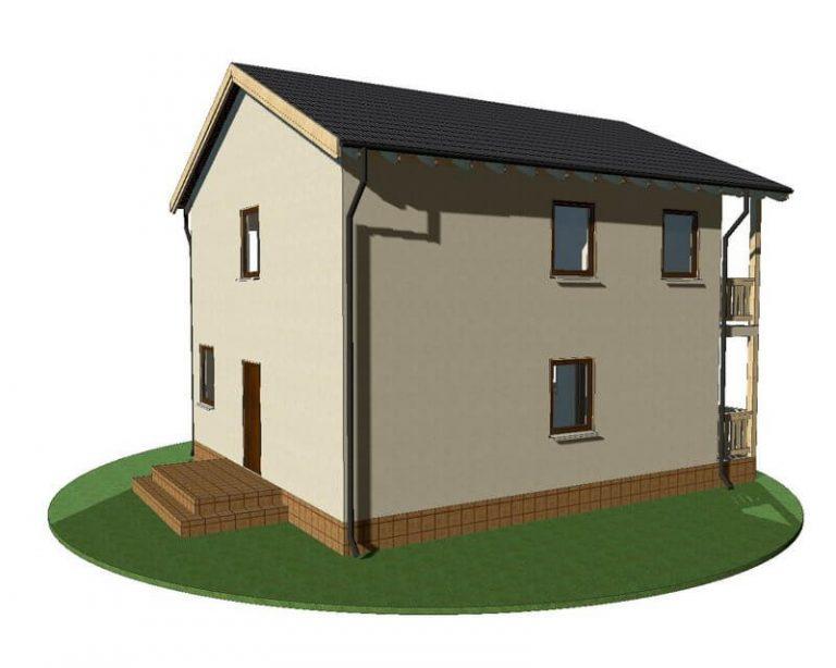 Проект каркасного дома из СИП панелей C1519 Черновцы