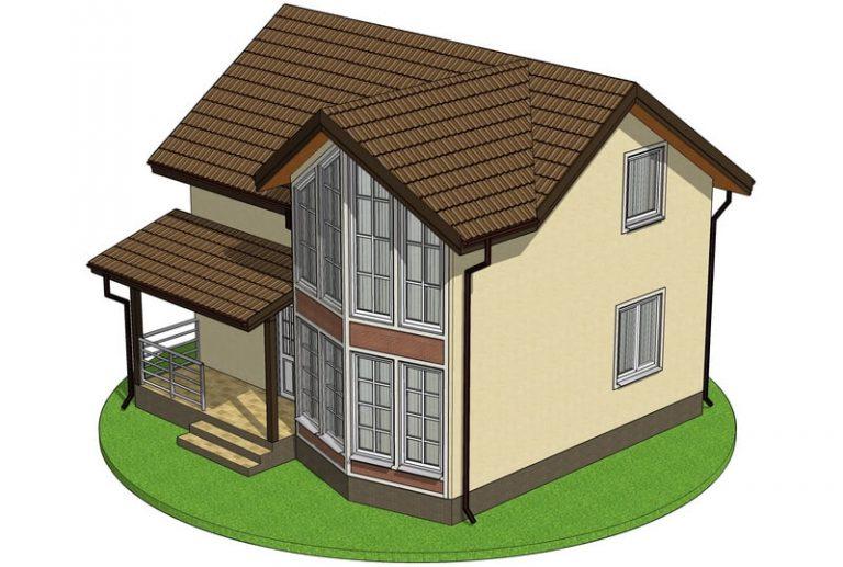 Проект каркасного дома из СИП панелей C1702 Днепр