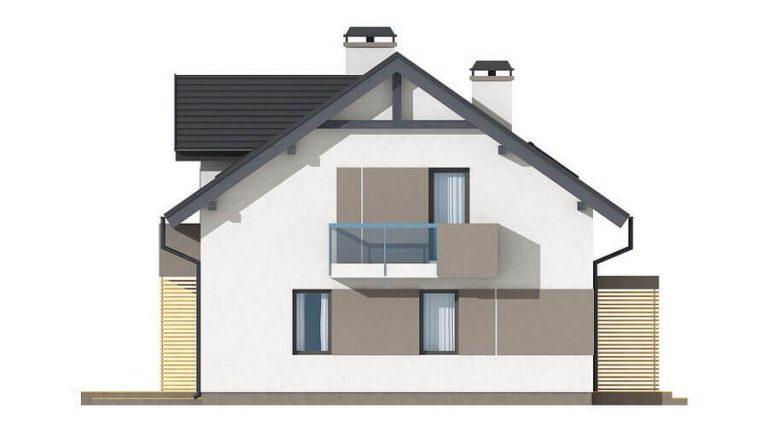 Проект каркасного дома из СИП панелей C1508 Харьков