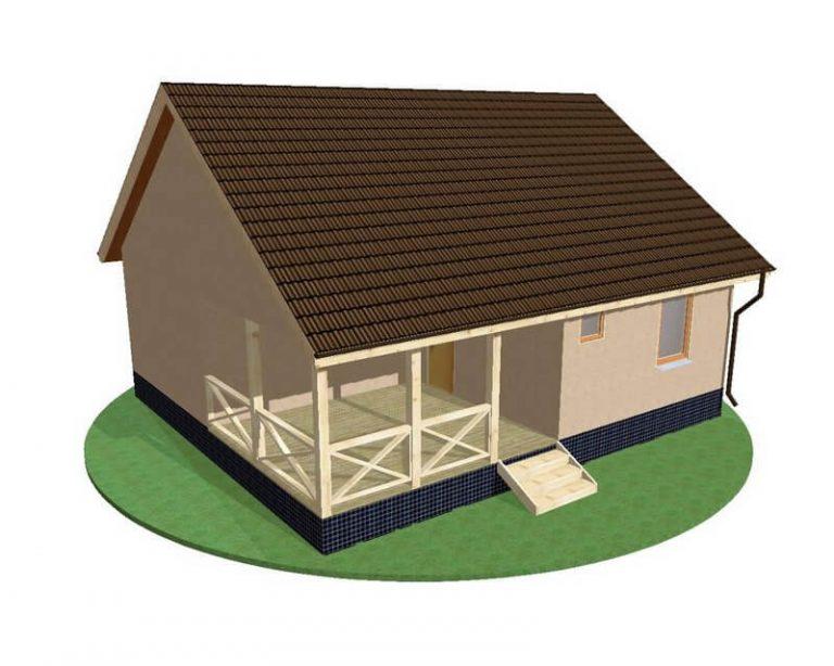 Проект каркасного дома из СИП панелей C1510 Гайсин