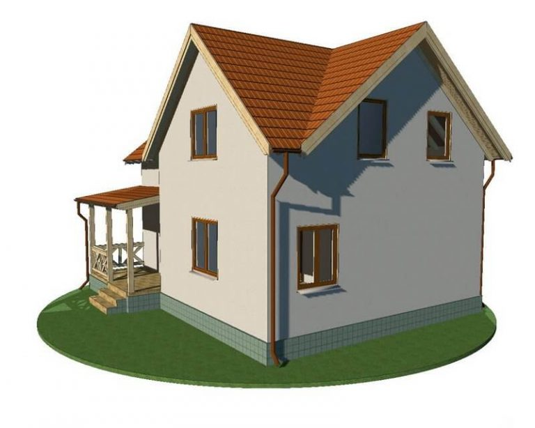Проект каркасного дома из СИП панелей C1518 Сумы