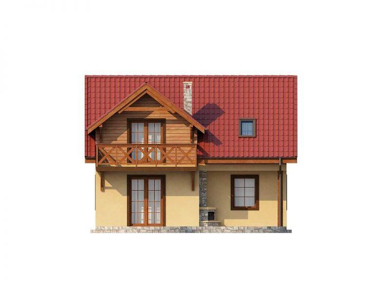 Проект каркасного дома из СИП панелей C1517 Литин