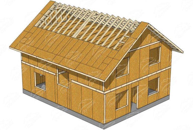 проект каркасного дома из СИП панелей