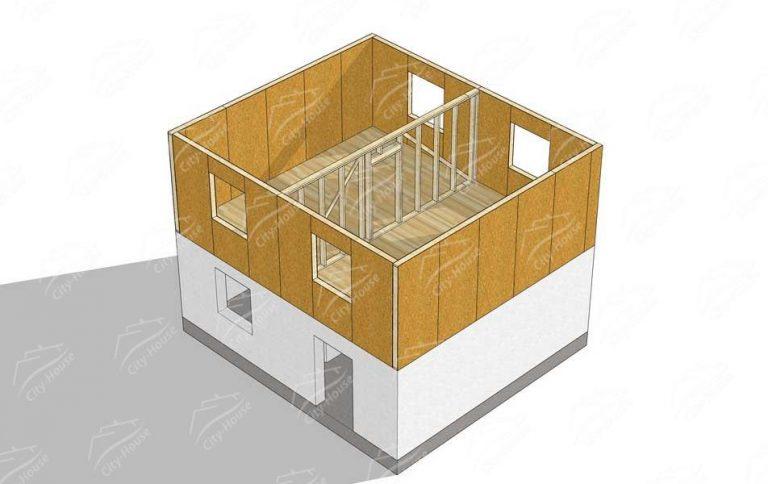 проект дома каркасной надстройки из СИП панелей