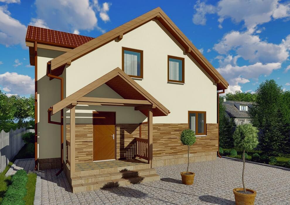 Проект каркасного дома из СИП панелей C1521 Некрасово