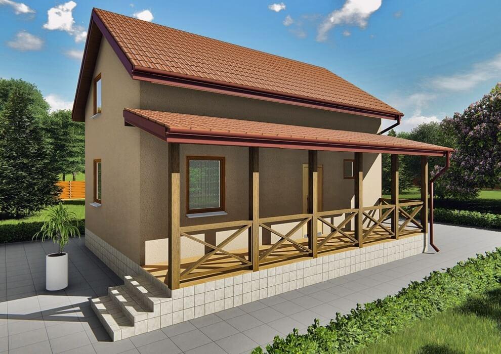 Проект каркасного дома из СИП панелей C1511 Сосонка