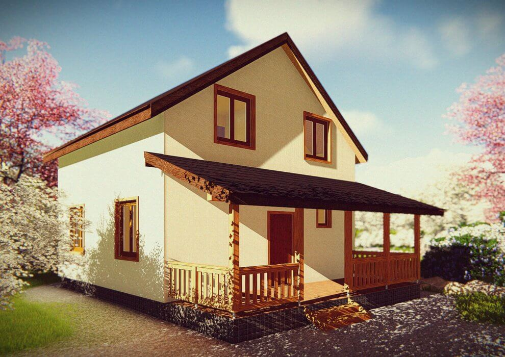 Проект каркасного дома из СИП панелей C1516 Черкассы
