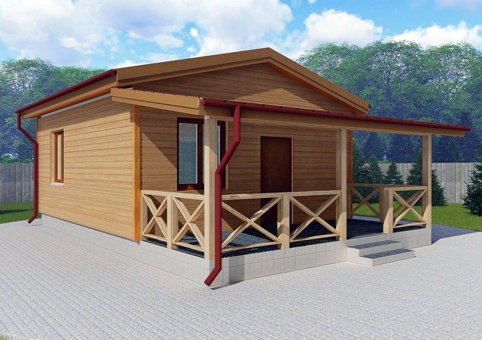 Проект каркасного дома из СИП панелей C1503 Чернигов