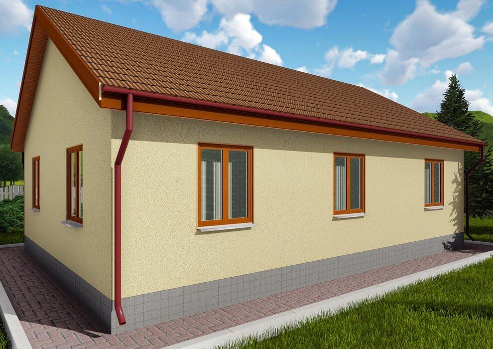 Проект каркасного дома из СИП панелей C1513 Жмеринка