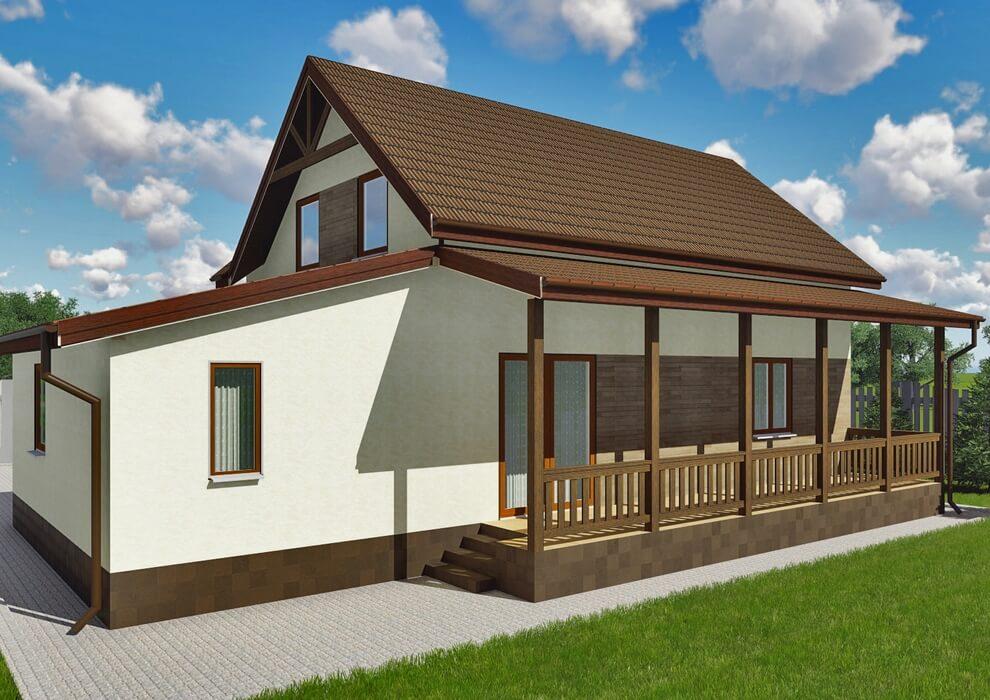 Проект каркасного дома из СИП панелей C1514 Житомир