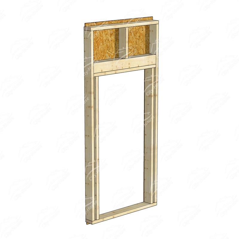 Каркасный модуль двери КМД-1254-1000