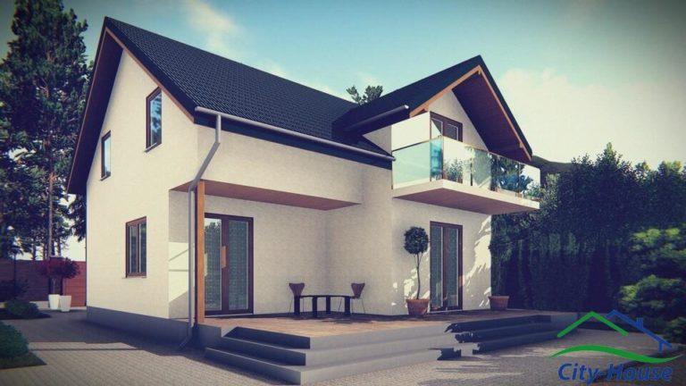 Архитектурная визуализация каркасного дома из СИП панелей