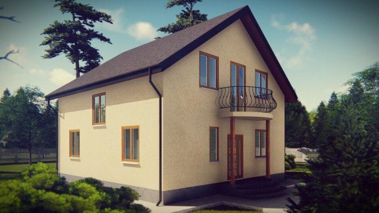Архитектурная визуализация канадского дома из СИП панелей