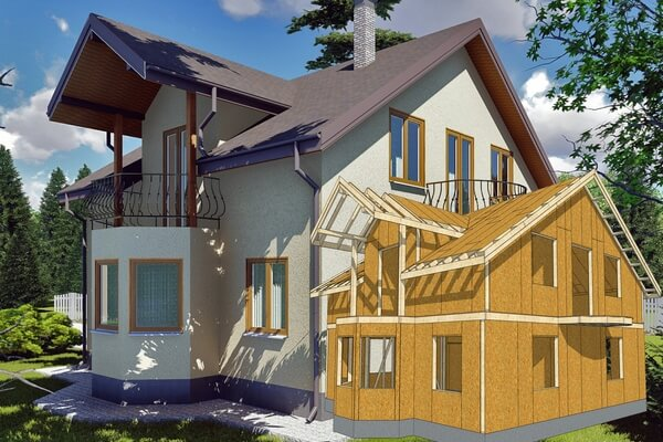 Энергоэффективный дом из СИП панелей в Винницкой области