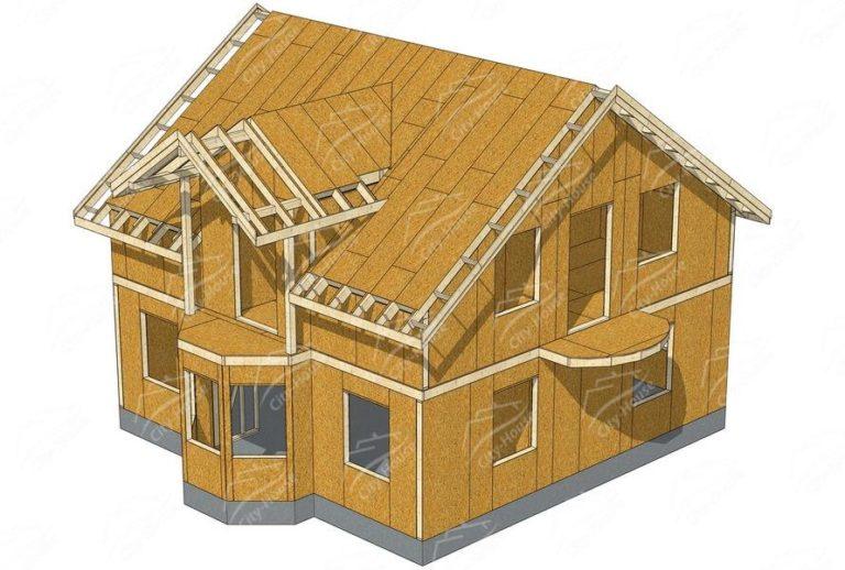 проект канадского дома из СИП панелей