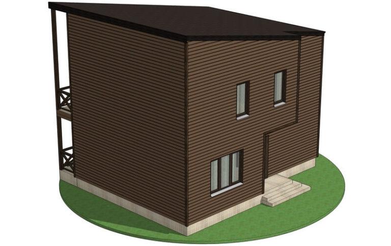 Проект каркасного дома из СИП панелей C1610 Хмельник