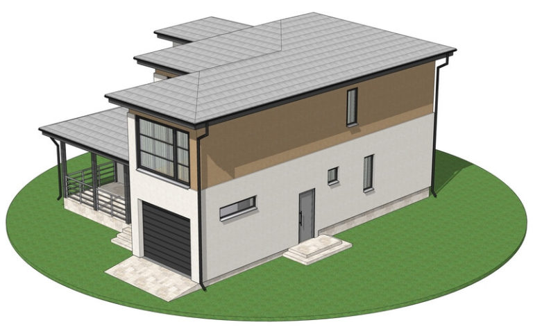 Проект каркасного дома из СИП панелей C1607 Бар