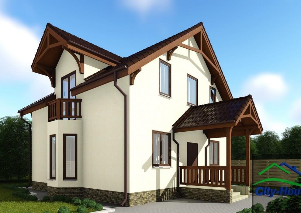 Проект энергоэффективного дома C1728 Тульчин