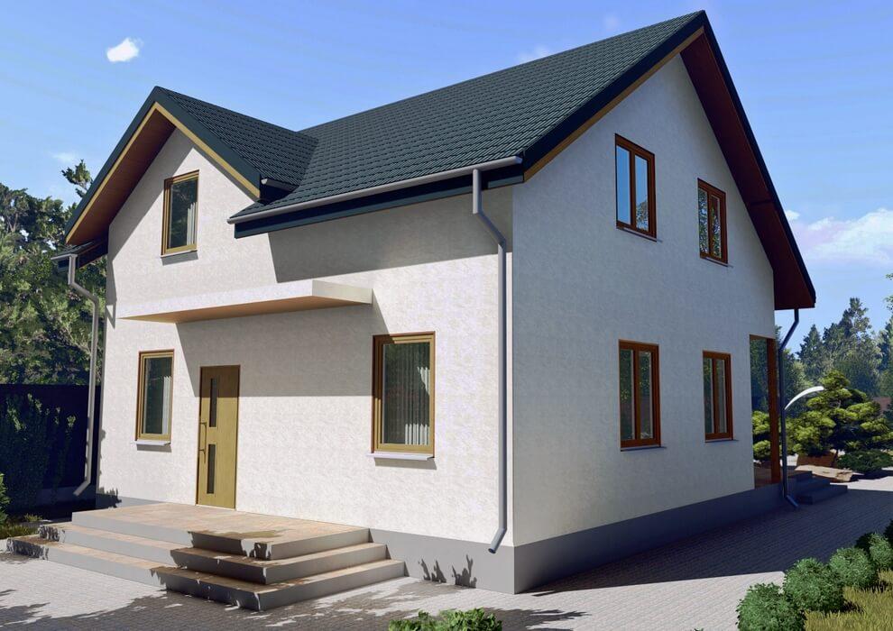 Проект каркасного дома из СИП панелей C1617 Немиров