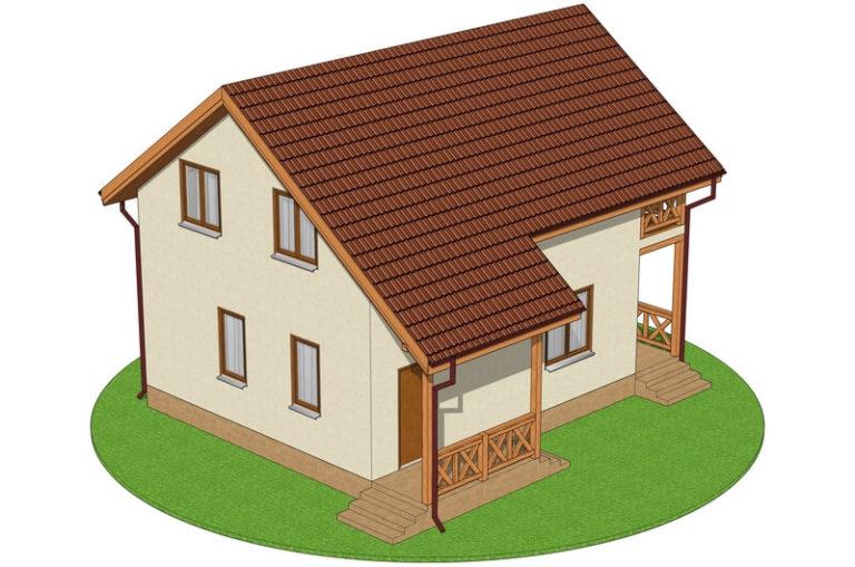 Проект экономичного дома C1727 Оратов