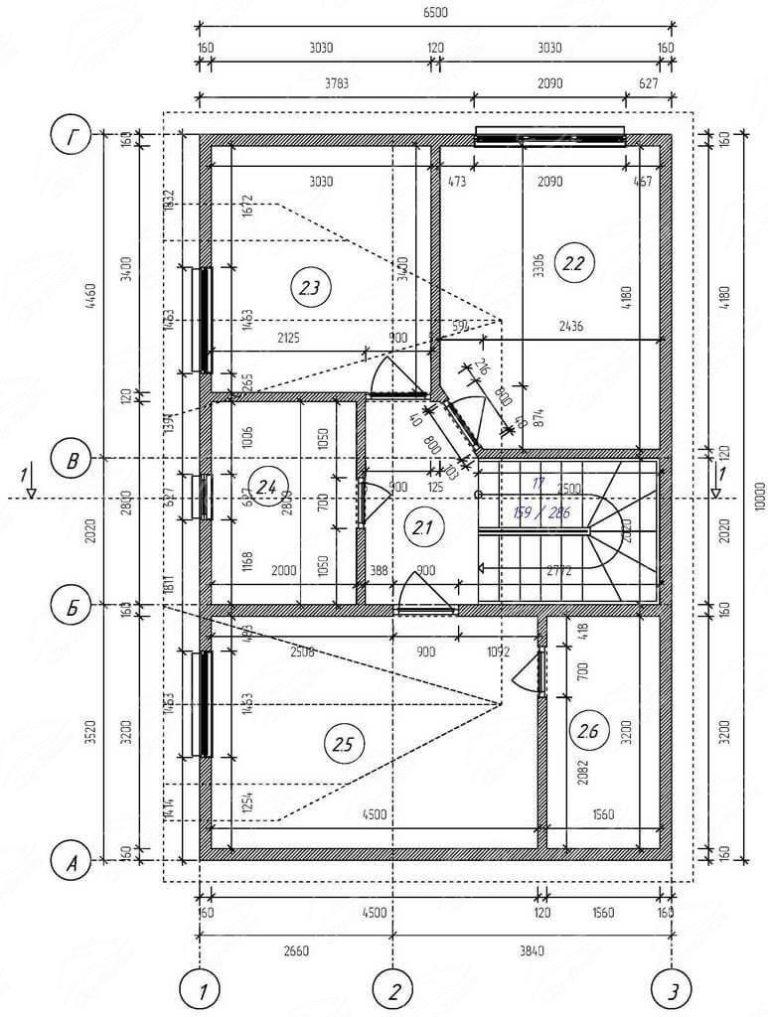 План 2 этажа дома из СИП панелей
