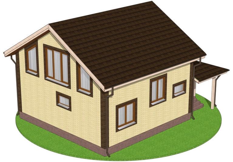 Проект каркасного дома из SIP панелей C1714 Херсон