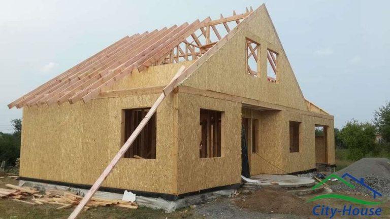 Монтируем опорную конструкцию крыши, стропила и затяжки