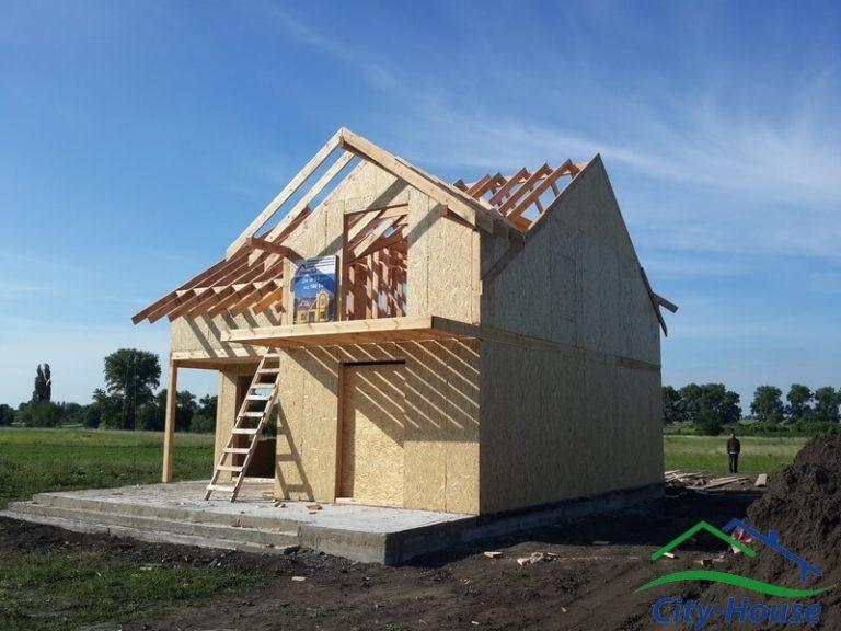 Собираем каркасную конструкцию крыши толщиной 190мм