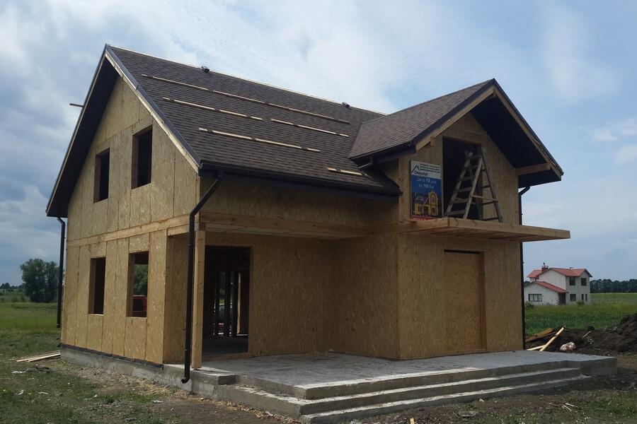 Каркасный дом из СИП панелей с мансардным этажом в Виннице от Сити-Хауз