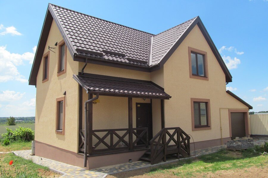 Двухэтажный энергоэффективный дом с мансардой в Виннице