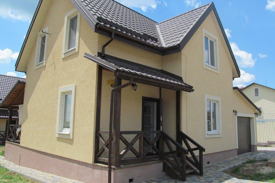 Экономный энергосбрегающий дом на сваях в Виннице