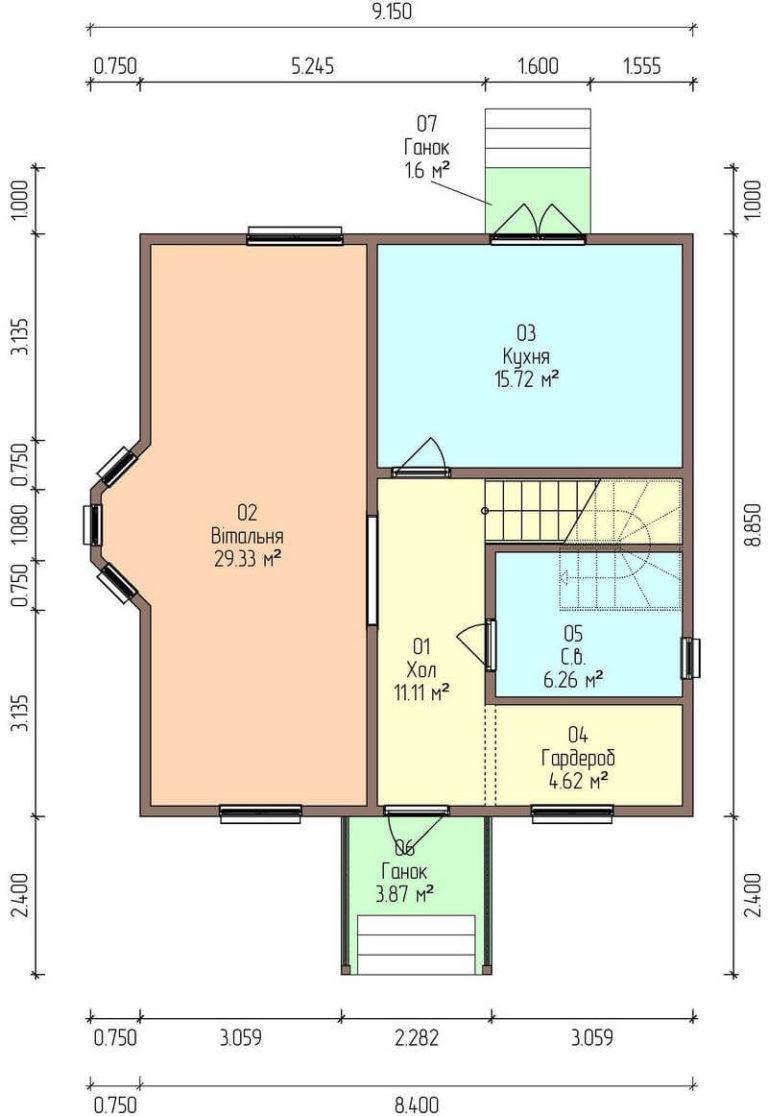план первого энергоэффективного дома C1728 Тульчин