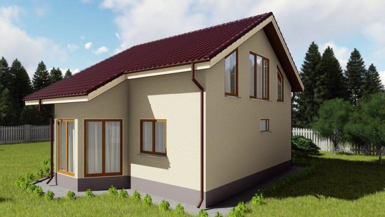 Архитектурная визуализация энергосберегающего дома из СИП панелей
