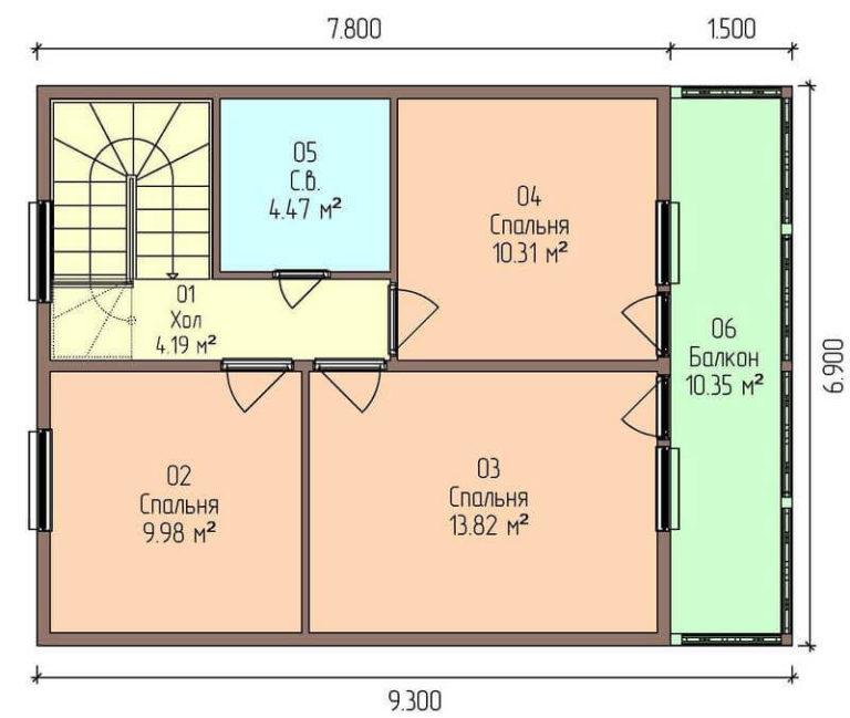 план второго этажа экономичного дома C1727 Оратов