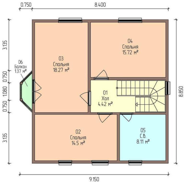 план второго энергоэффективного дома C1728 Тульчин