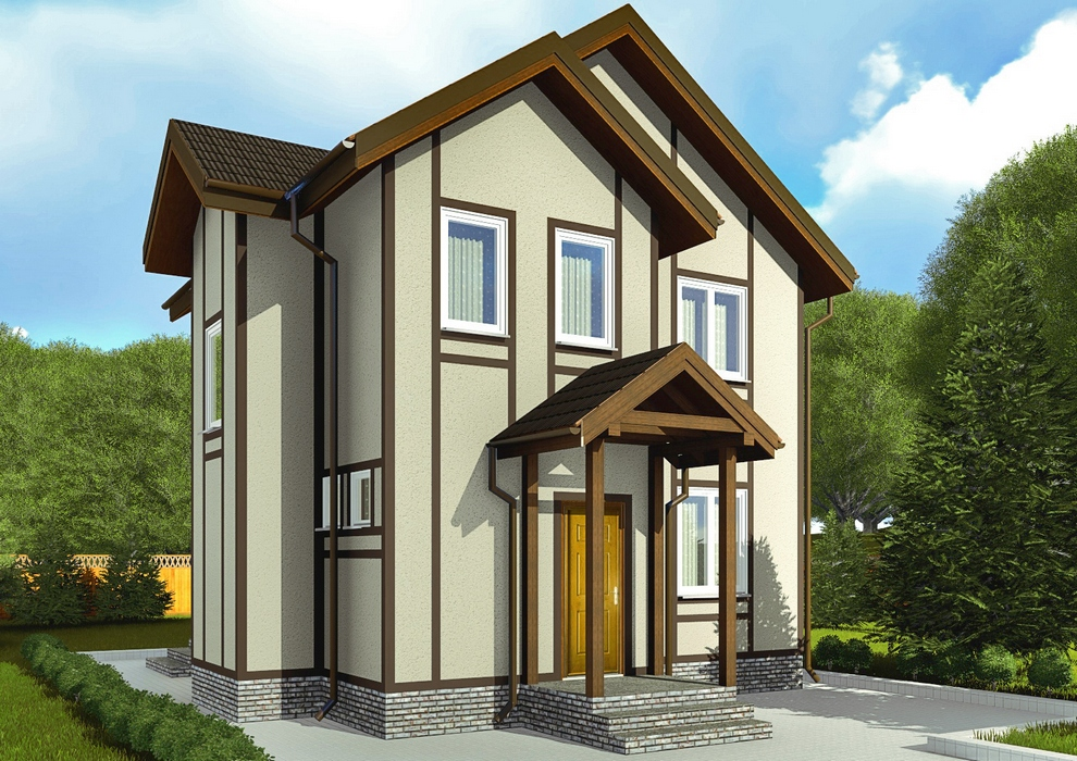 Проект каркасного дома из СИП панелей C1703 Ладыжин